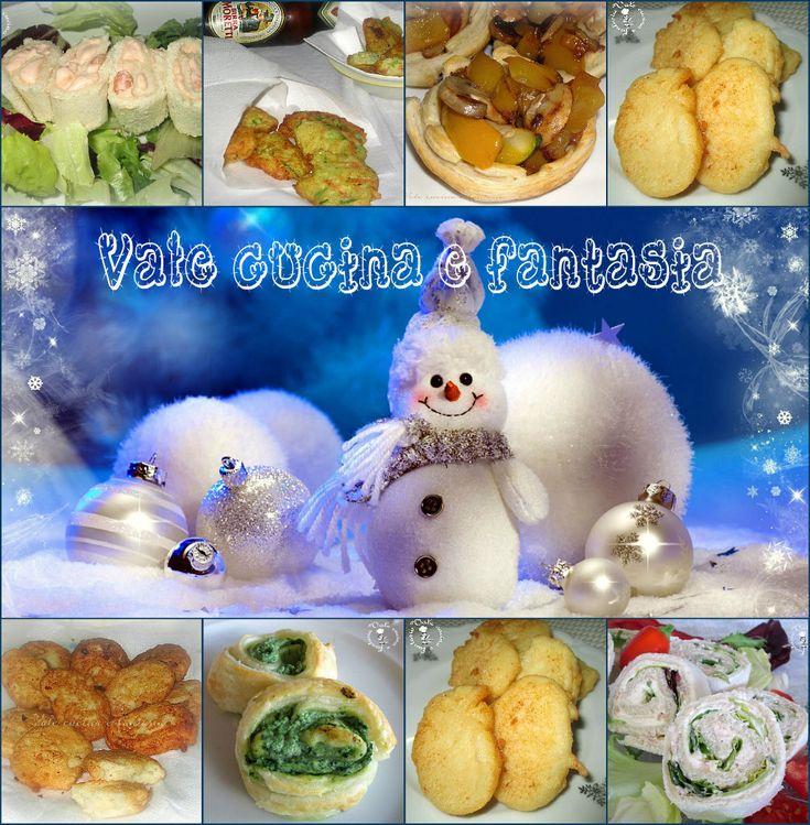 Raccolta di antipasti per la vigilia di Natale