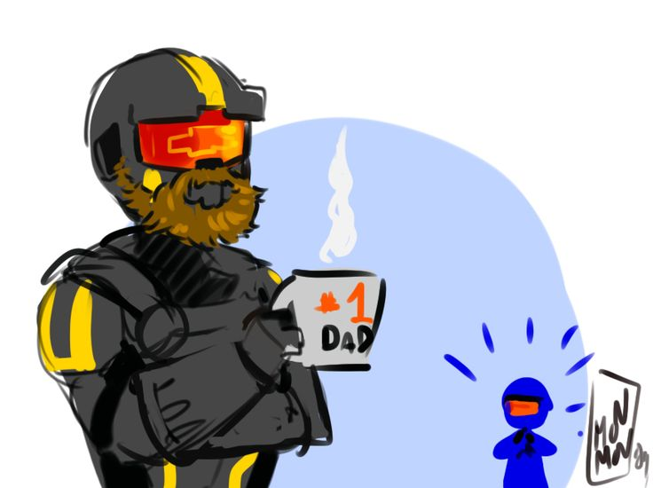 """""""Wash. Grew. A beard."""" - Red vs Blue, Season 15, Episode 5: Previously On (Art by madqueenmomo on Tumblr)"""