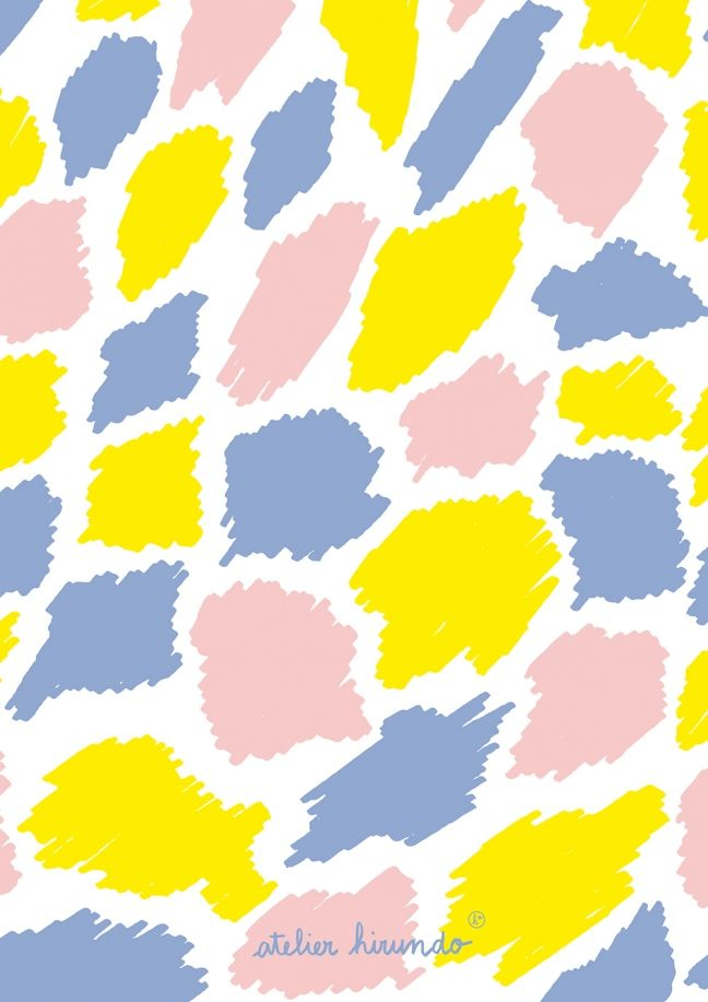 PIERRE-MARIE abstract shapes pattern by Atelier Hirundo