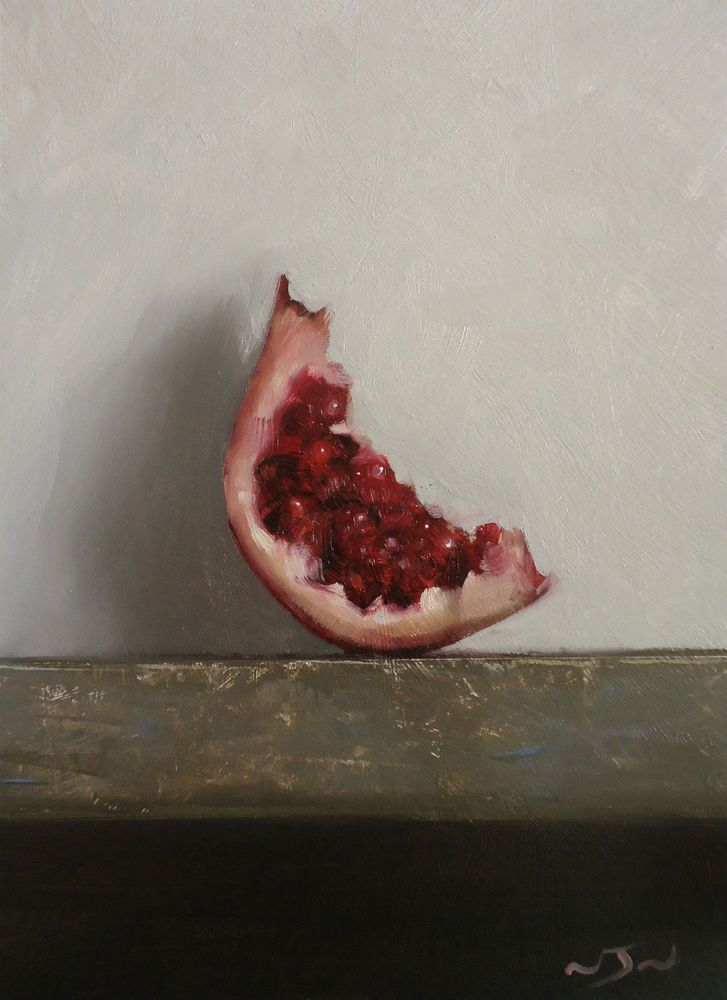 Original Oil Painting - Pomegranate  - Contemporary Still Life Art - Nelson