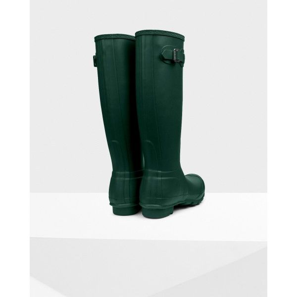 Hunter Women's Original Tall Wellington Boot Hunter green - Hunter Boots #ss17 #fashion #hunterboots