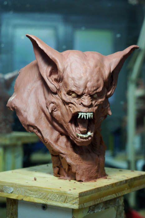 Spirit halloween contest...boo!!!:)(veronica d) werewolf bust2 by ~sculptart31 on deviantART