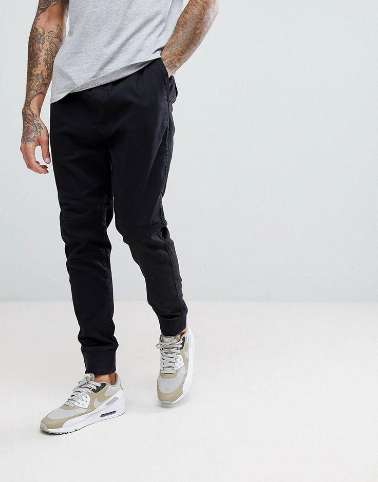 Bershka Slim Fit Jogger In Black - Black