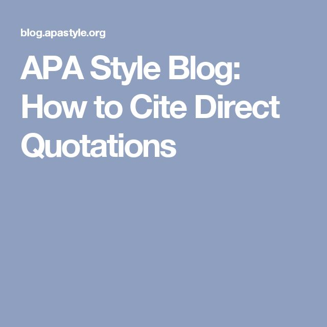 How To Cite A Quote: 1000+ Ideas About Apa Format Example On Pinterest