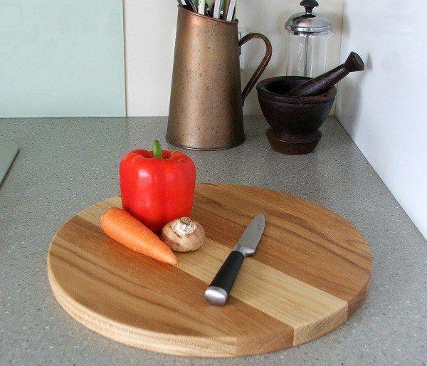 Round Oak Chopping Boards
