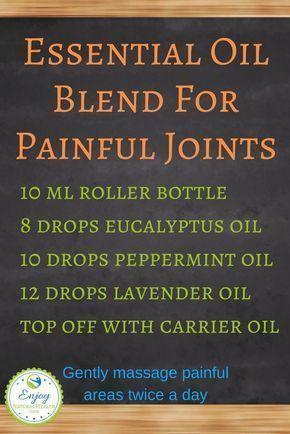 Powerful Essential Oils Blend For Painful Joints #essentialoilsmenstruation