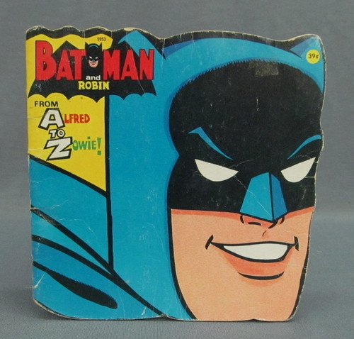 1966 Batman Robin From A To Z Alfred Zowie Golden Book