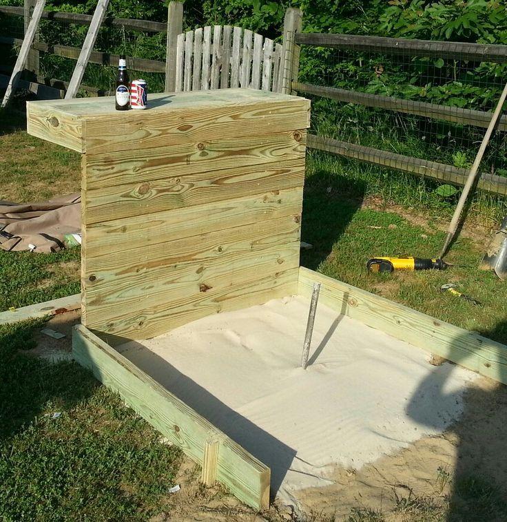 backyard horseshoe pit ideas | Horseshoe pits
