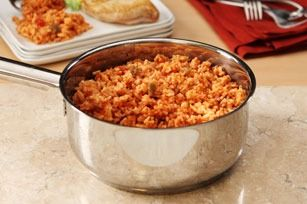 10-Minute Cheesy Mexican Rice – This is a simple side to use for Mexican night. We use medium salsa & shredded cheese. Adding cooked, diced chicken and corn makes it a quick meal.
