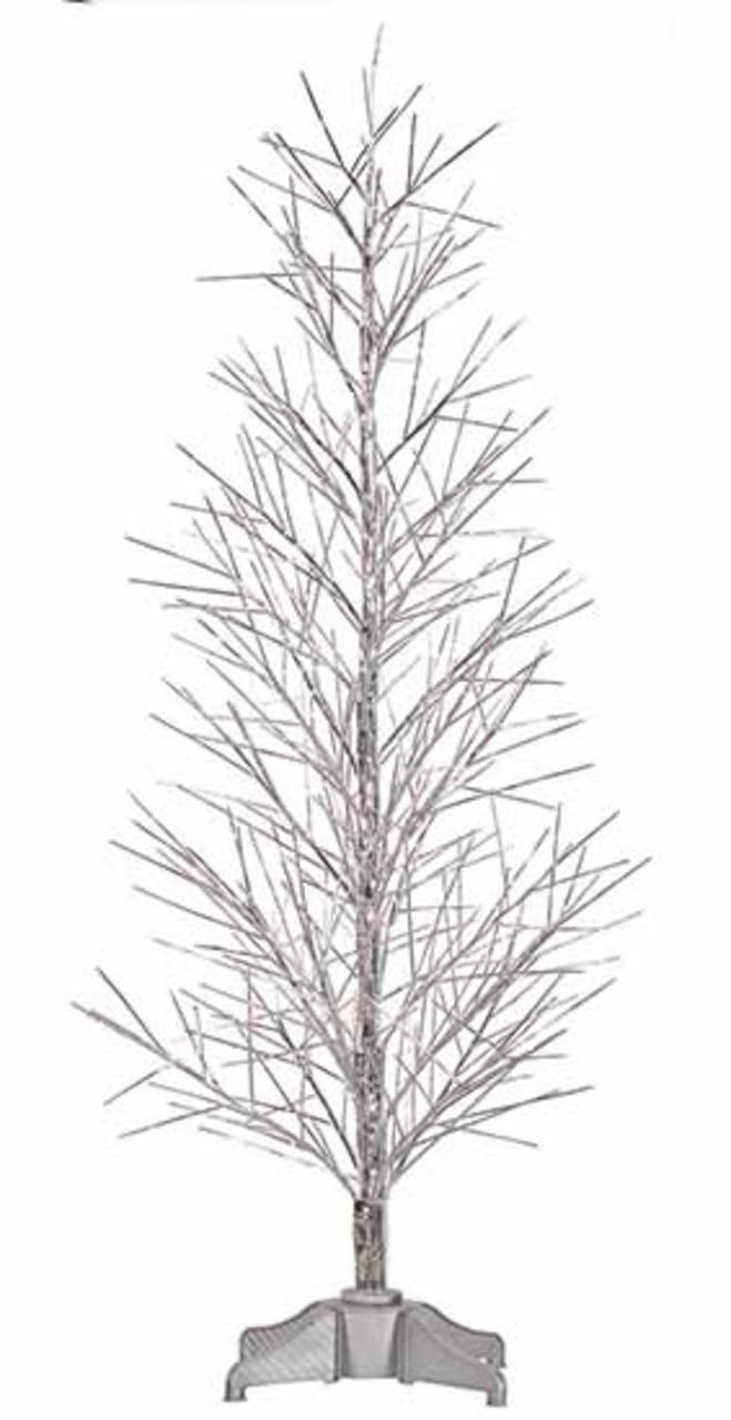4' Pre-Lit Battery Operated Silver Fiber Optic Christmas Twig Tree - Multi - 30861175