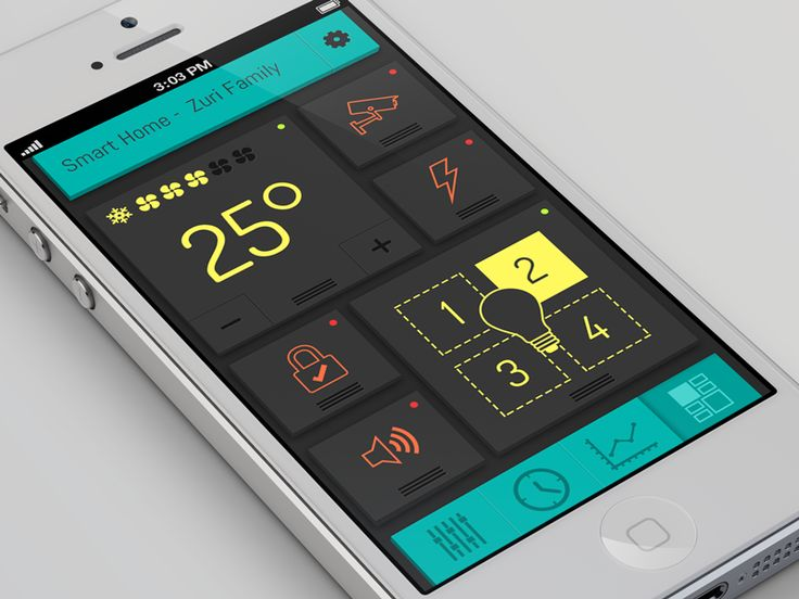 Smart Home App | #design #ui #ux #flat #metroesque #ios #iphone #apple #mobile