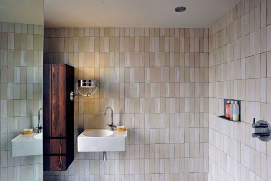 Redesigning your bathroom? Here's some eco-friendly bathroom tile inspiration.