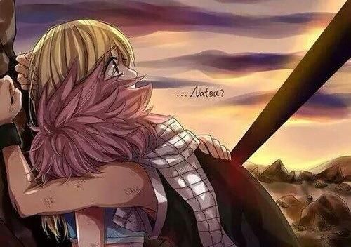 OMG just realize Natsu's back, he sacrifice himself to save Lucy! Naluuuuu