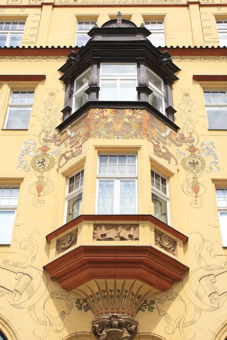 Декор зданий Прага