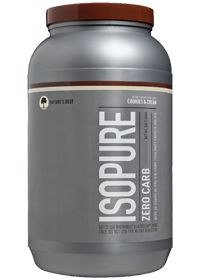 Nature's Best Isopure Zero Carb Cookie Cream, 3.0 Pound , Powder $39.99 with free shipping!  This stuff is delicious & carb free!  Great post workout!