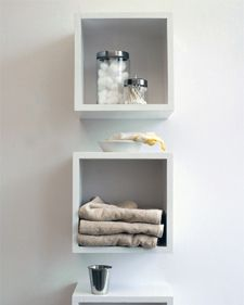 Keep bathroom items neat and accessible with cubbyhole shelves