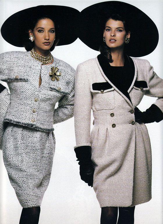VOGUE France 9/1987 QUEL VENT DE JEUNESSE   ph. Bill King   Models: Marpessa & Linda
