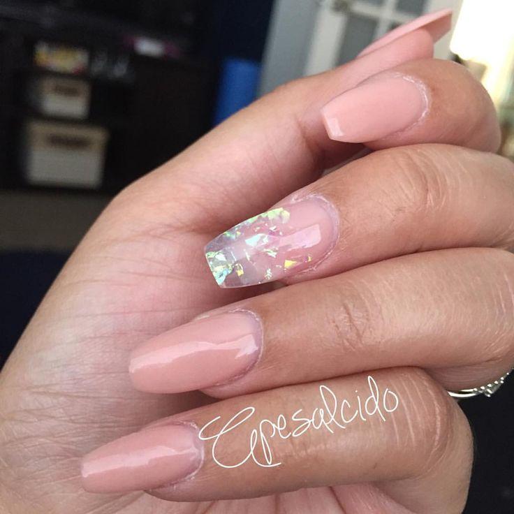 Clear Mylar nails | April Salcido  (@apesalcidonailz)