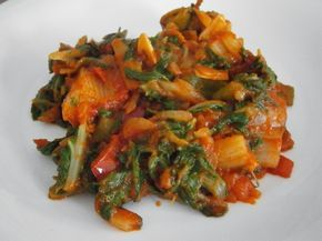 Varomeando: Acelgas con tomate