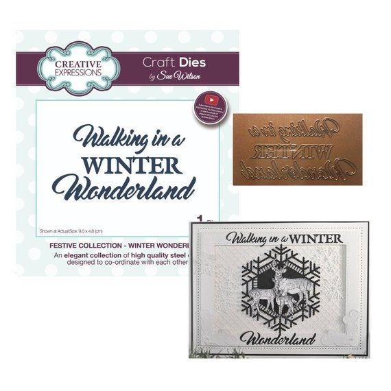 Winter Wonderland Metal Die Cut Creative Expressions Cutting Dies Christmas Word