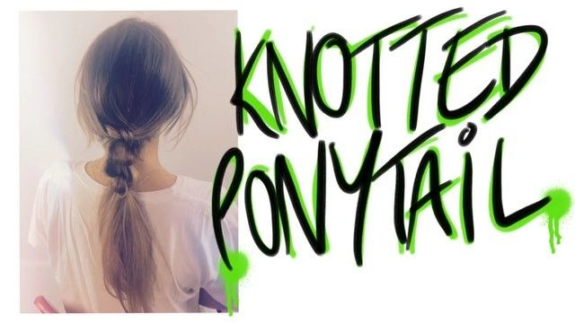 """153 Likes, 2 Comments - choccysolo (@choccy_tv) on Instagram: """"New video! Knotted ponytail . Watch the whole video on choccy tv on YouTube #ponytail #youtube…"""""""