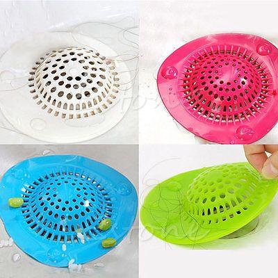 Silicone-Bath-Kitchen-Waste-Sink-Strainer-Filter-Net-Drain-Hair-Catcher-Stopper