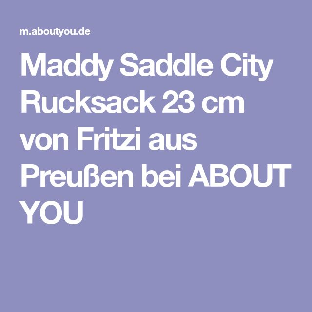 Maddy Saddle City Rucksack 23 cm von Fritzi aus Preußen bei ABOUT YOU