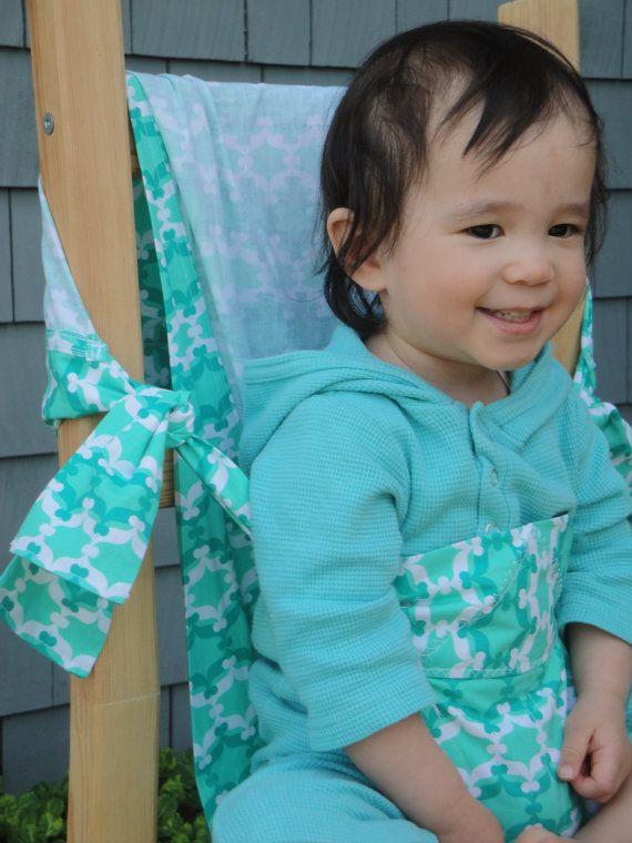 Chaise haute Portable de 100 % coton biologique et de chaise