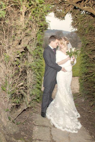 bridal wrap faux fur winter wedding