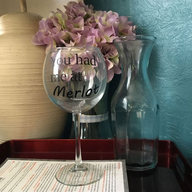 Handmade Wine Glass 034 You Had Me at Merlot 034 Oversized Wine Glass | eBay