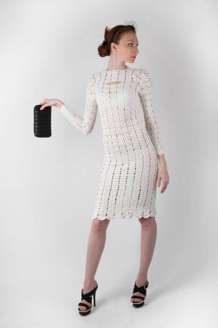 short-crochet-wedding-dress.jpg (449×674)