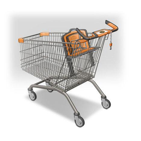 """Nákupní vozík """"NextGeneration"""" doplněný o nový typ madel pro pohodlné držení."""