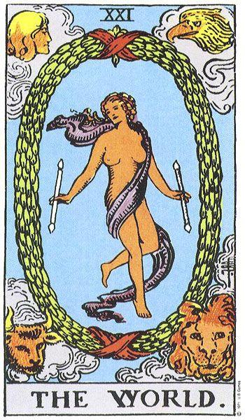 Tarot Card - integration, accomplishment, involvement, fulfillment