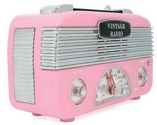 Retro Vintage Pink Radio http://www.holidaywithmatthewmead.com