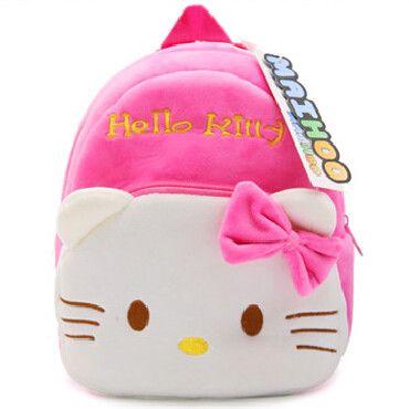 MAIHOO KT hello kitty cute cartoon kid plush backpack toy mini schoolbag Children gift kindergarten girl baby bag lovely Mochila