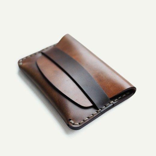Cordovan flap slim wallet from Makr. $200