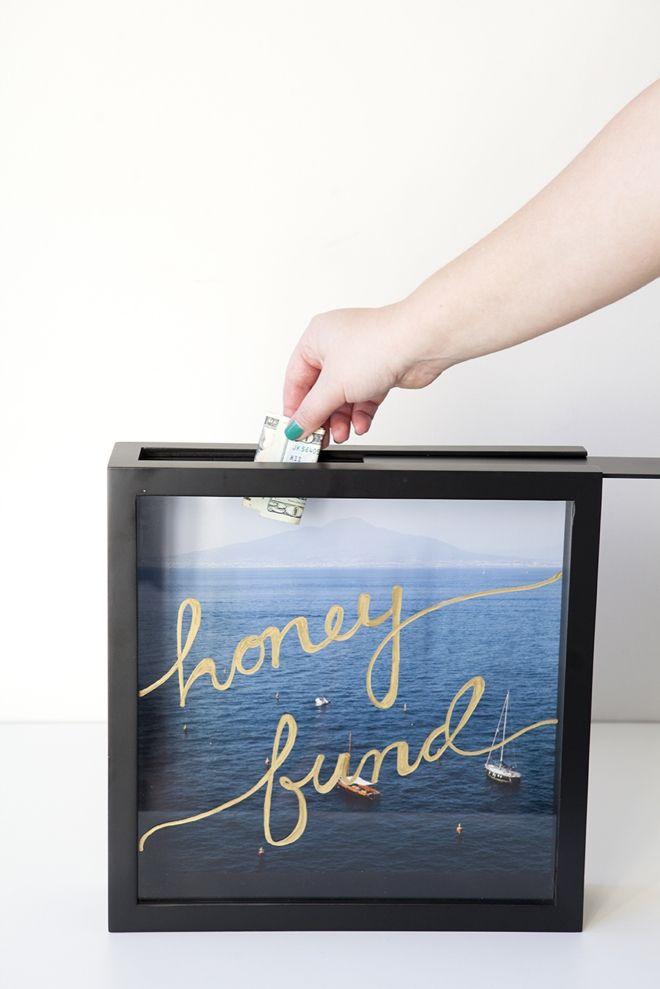 Como fazer um fundo de lua de mel de poupança shadowbox quadro!