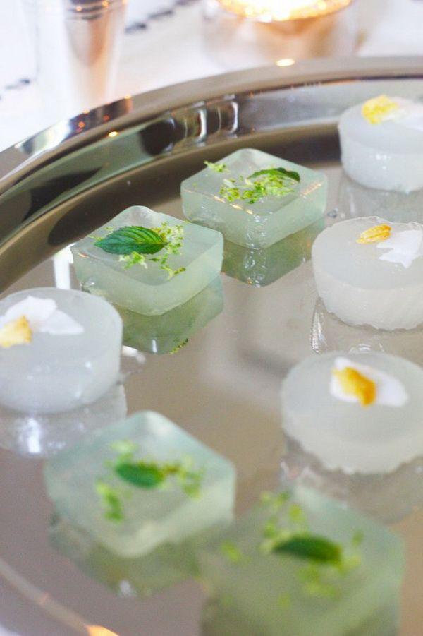 Pina Colada and Mojito jello shots.