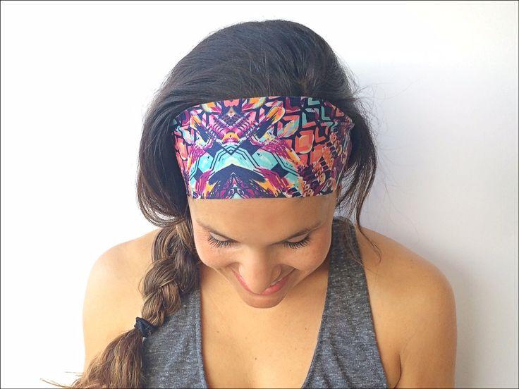 Yoga Headband - Bali Print - Running Headband - Fitness Headband - Fitness Apparel - Wide headband by TrueNorthCollection on Etsy https://www.etsy.com/listing/192692314/yoga-headband-bali-print-running
