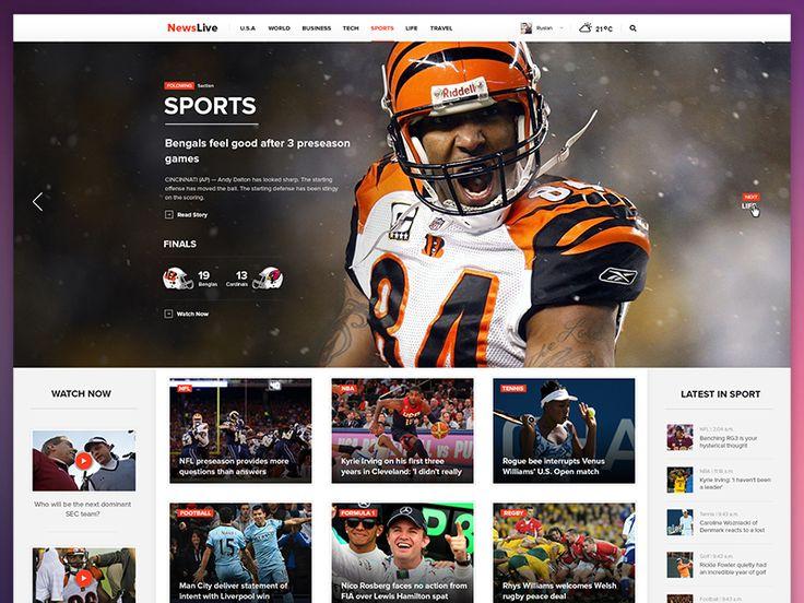 Newslive Web #webdesign