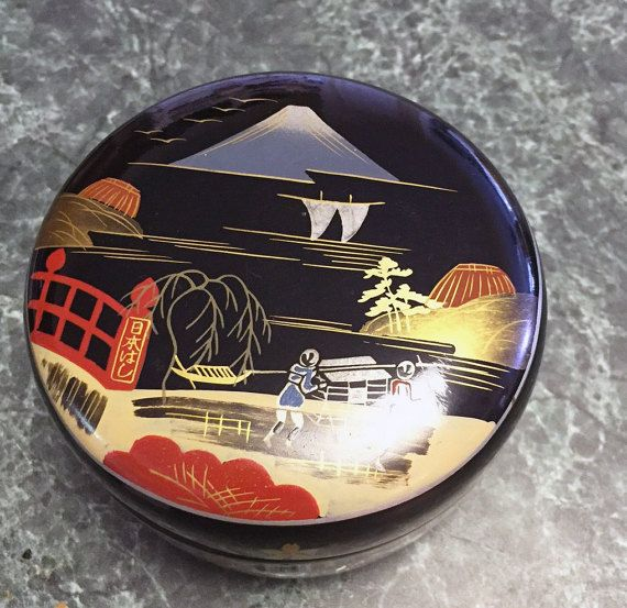 Vintage Japanese Lacquerware Coasters & Box by RetroUrbanWares