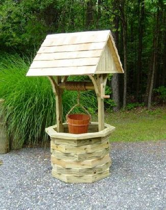 How to Build a 6 ft. Garden Wishing Well. Wood Plans Include Photos!