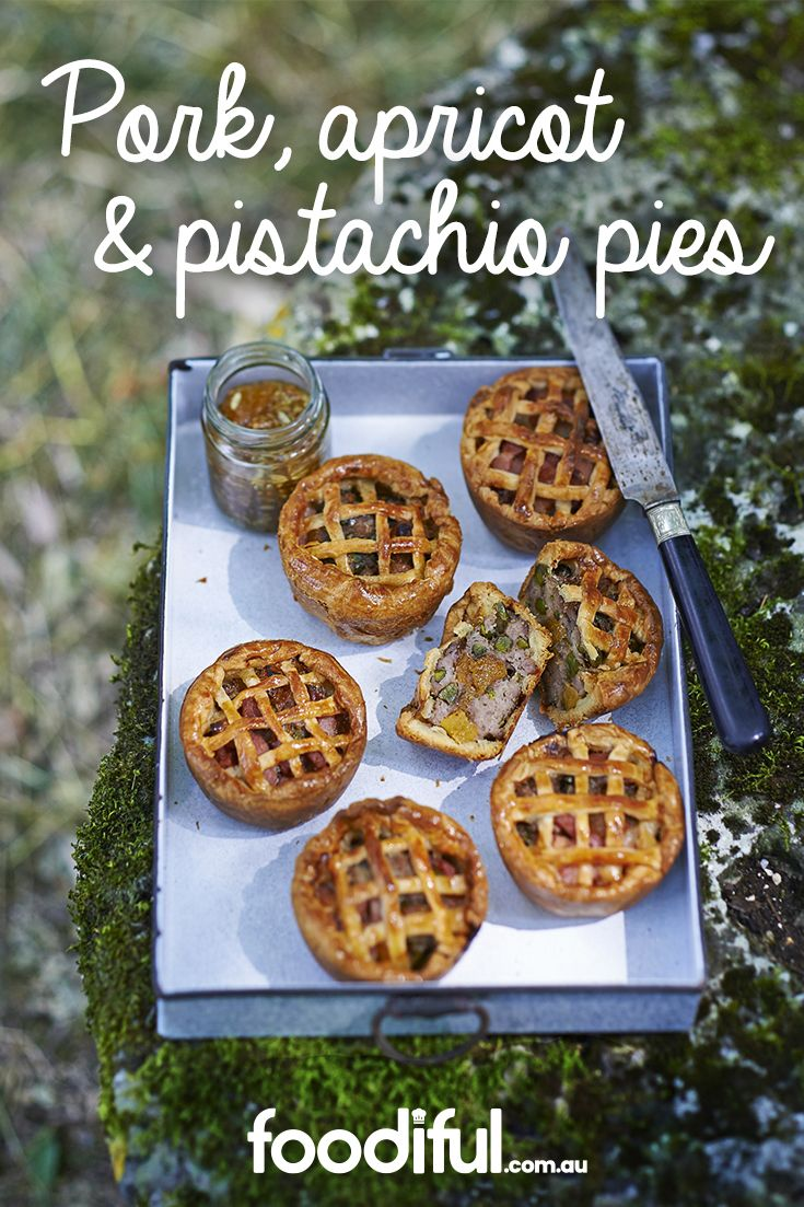 This mini pies are great for buffets or when serving small groups of people. With an apricot middle, pork and pistachio nuts, they are bursting with flavour. This recipe serves 6 and takes 1 hr and 30 mins to make.