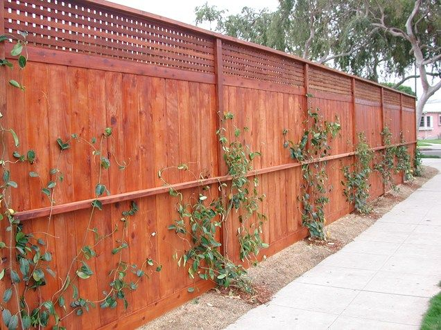 Redwood Privacy Fence Lattice Topper Gates And Fencing