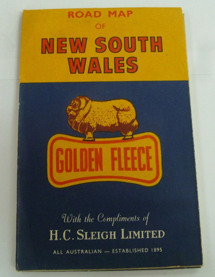 Golden Fleece service station road maps of New South Wales Australia