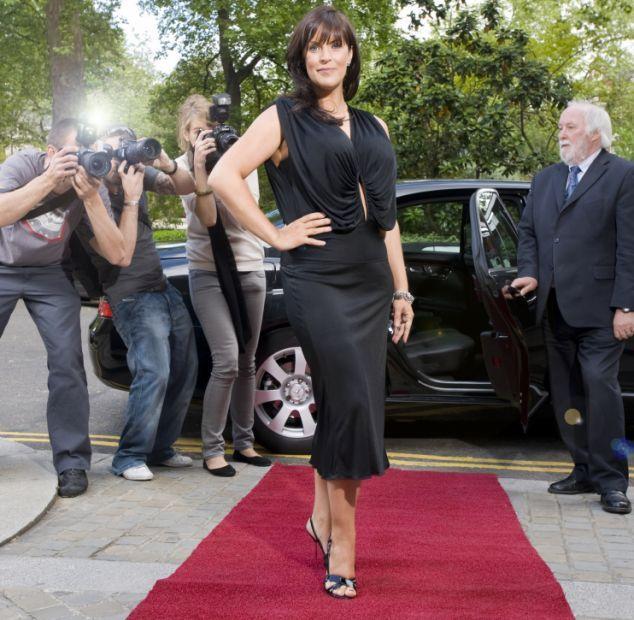 Anna Richardson in high heels