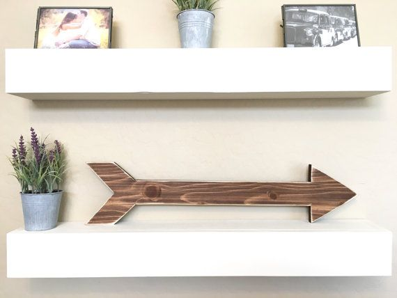 Flèche en bois rustique signe de flèche en par DunnRusticDesigns