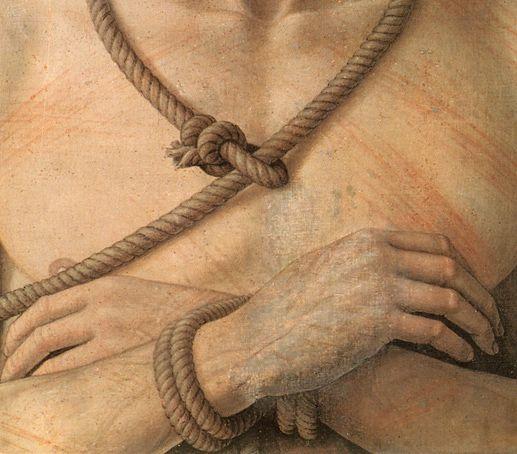 Andrea Mantegna: Ecce Homo, detail