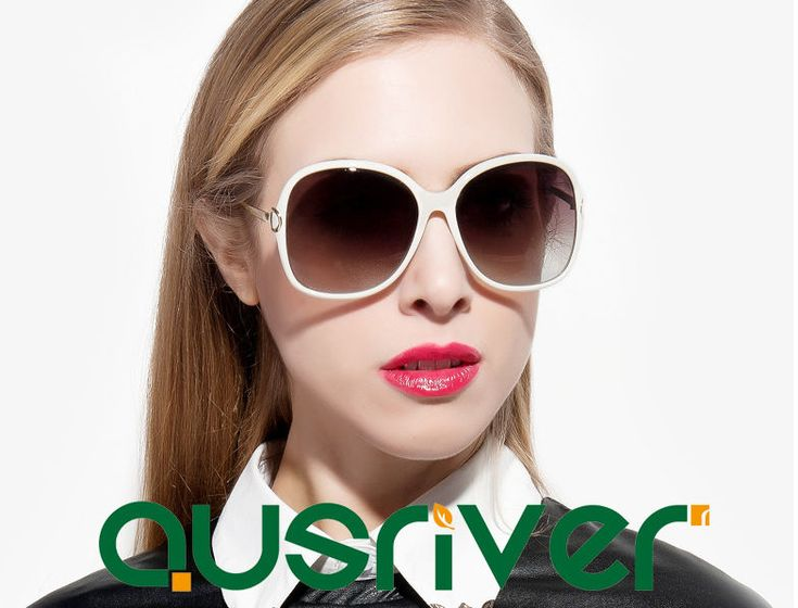 Polarised Women's Sunglasses Compact Type Thin Frame Perfect Curve
