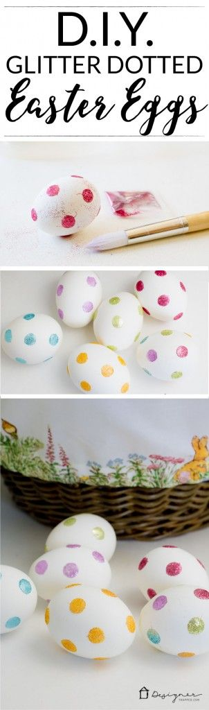 OMG, love this! I never thought of decorating Easter eggs this way--glitter and dots! So, so simple. Can't wait to try it with my kids!